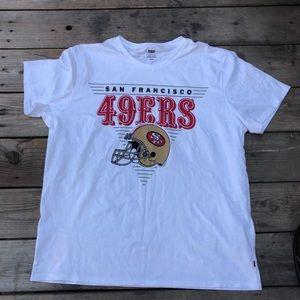 Levi's 49ers white t-shirt